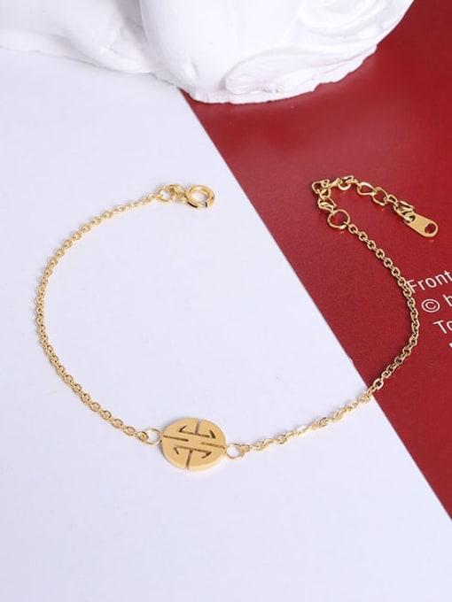 E065 gold jewelry  15+ 3cm Titanium Steel  Minimalist Irregular Earring Bracelet and Necklace Set