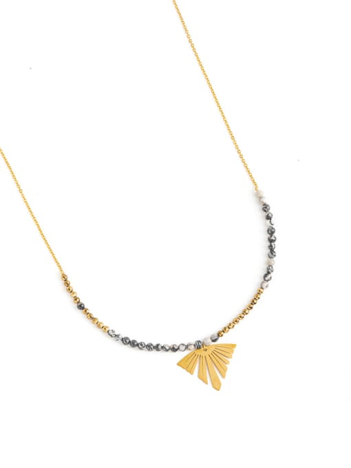 YAYACH European and American long natural stone beaded chain sweater chain 1