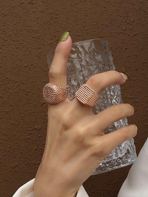 MAKA Titanium Steel Geometric Artisan Band Ring 1
