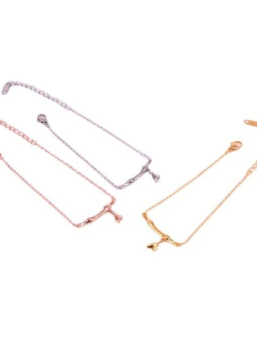 K.Love Titanium Steel Geometric Minimalist Adjustable Bracelet 0
