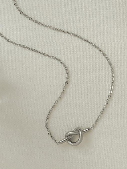 steel Titanium Steel Knot Heart Minimalist Necklace
