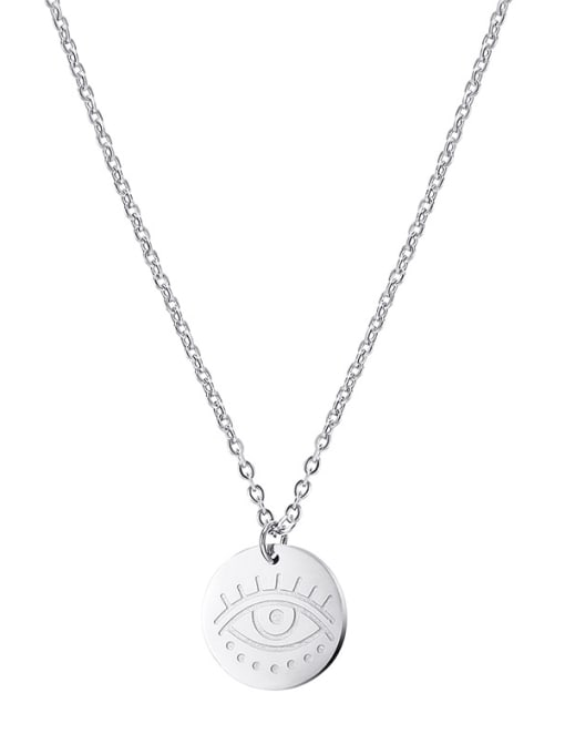 YAYACH Simple and exquisite round stainless steel pendant necklace 1