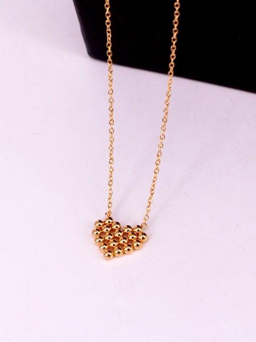 K.Love Titanium Steel Smooth Bead Heart Minimalist Necklace 3