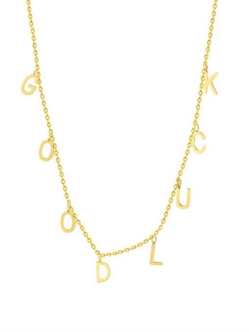 MAKA Titanium Steel Letter Minimalist Necklace 0