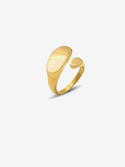 MAKA Titanium Steel Irregular Minimalist Band Ring 0
