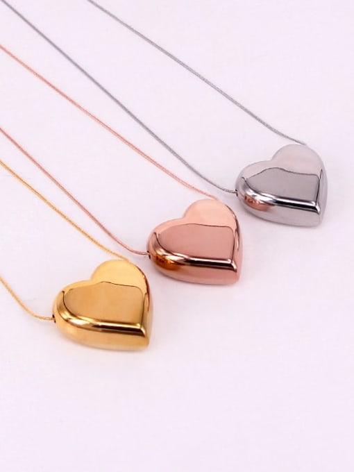 K.Love Titanium Steel Smooth Heart Minimalist Necklace 1