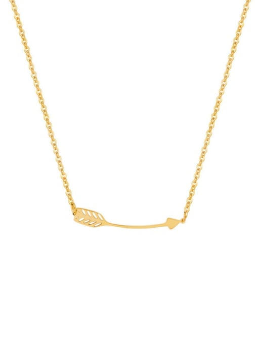 gold Six Pointed Sun Clavicle Titanium Steel Necklace