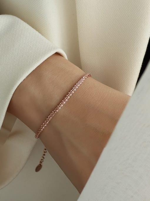 star  rose gold bracelet 14+ 5cm Titanium Steel Minimalist Irregular  Bangle and Necklace Set
