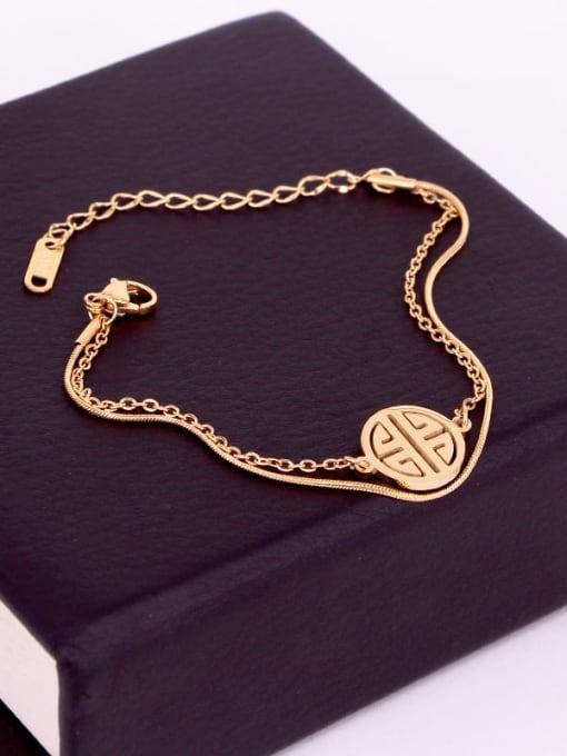 K.Love Titanium Steel Snake Minimalist Strand Bracelet 3
