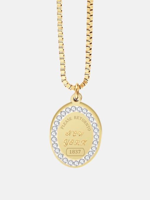 YAYACH Coin Titanium Steel Necklace