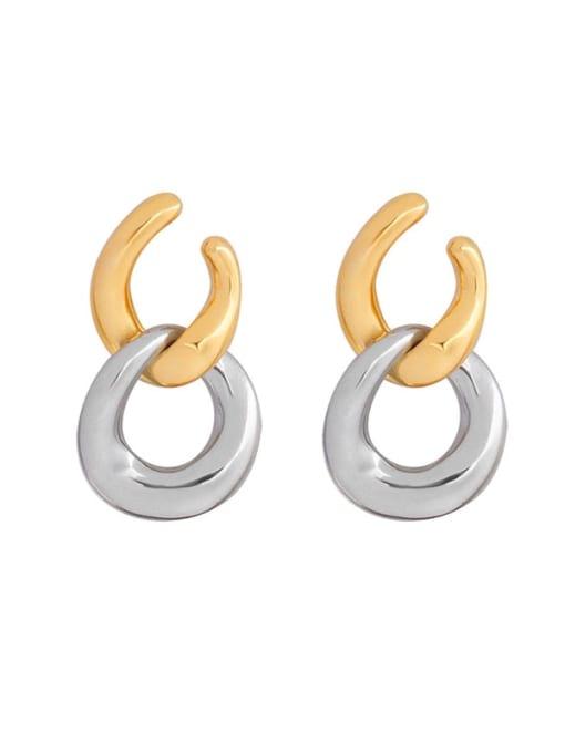 MAKA Titanium Steel Geometric Minimalist Drop Earring 0