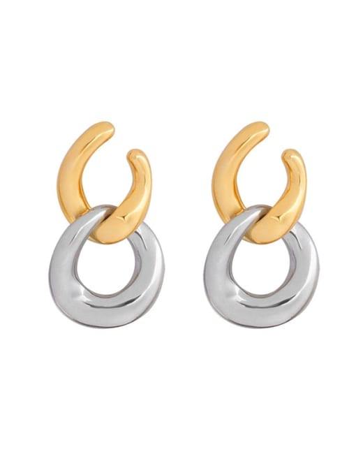 MAKA Titanium Steel Geometric Minimalist Drop Earring