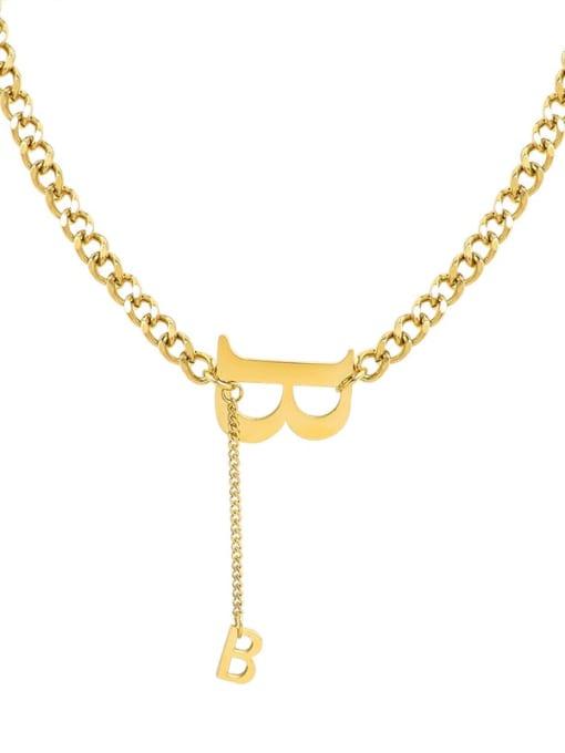 Gold necklace 39+5cm Titanium Steel Tassel Vintage Tassel Necklace