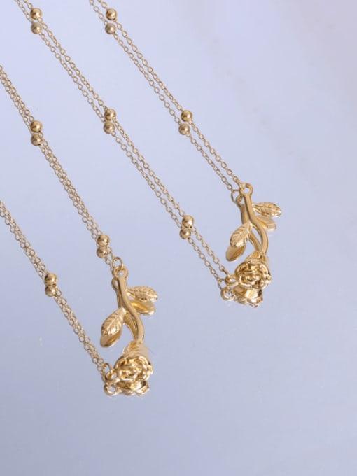 MAKA Titanium Steel Flower Minimalist Necklace 1