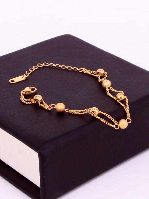 K.Love Titanium Steel Bead Round Minimalist Strand Bracelet