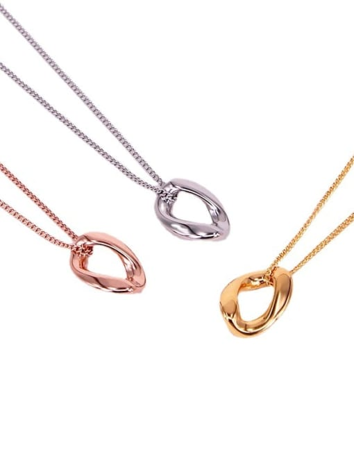 K.Love Titanium Steel Hollow Geometric Minimalist Necklace