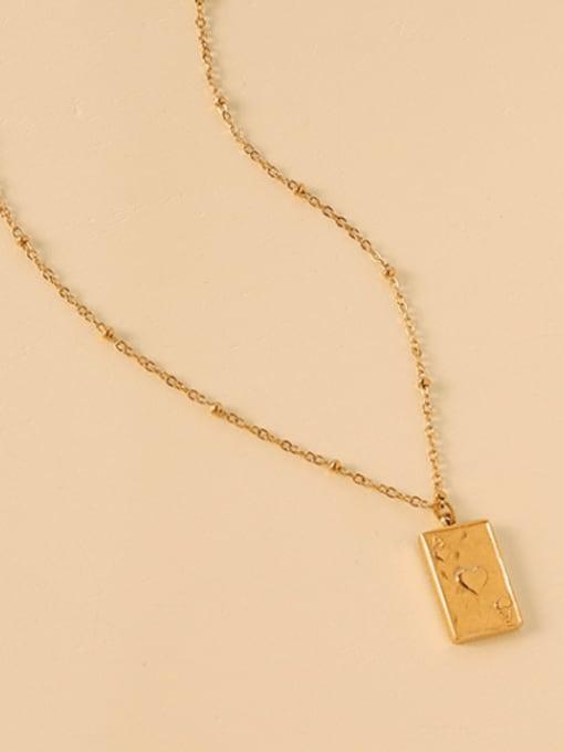Gold necklace 40+5cm Titanium Steel Geometric Minimalist Necklace
