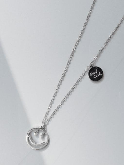 MAKA Titanium Steel Smiley Minimalist Necklace 2