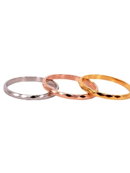 K.Love Titanium Steel Round Minimalist Band Ring 0