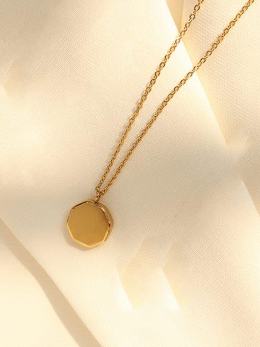 P937 gold 40 +5cm Titanium Steel Geometric Minimalist Necklace