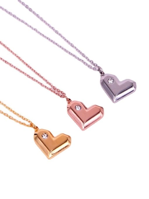 K.Love Titanium Steel Heart Minimalist Necklace 0