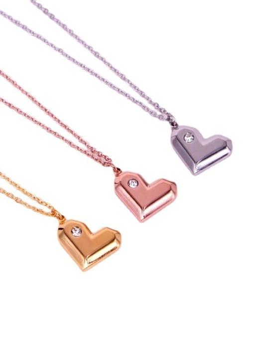 K.Love Titanium Steel Heart Minimalist Necklace