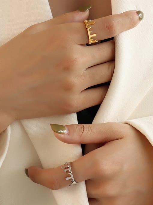 MAKA Titanium Steel Smooth Crown Cute Band Ring 1