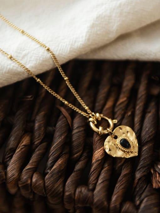 YAYACH Round Pendant water drop Gem Love titanium steel necklace 2
