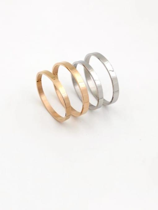 K.Love Titanium Steel Smooth Geometric Minimalist Band Bangle 2
