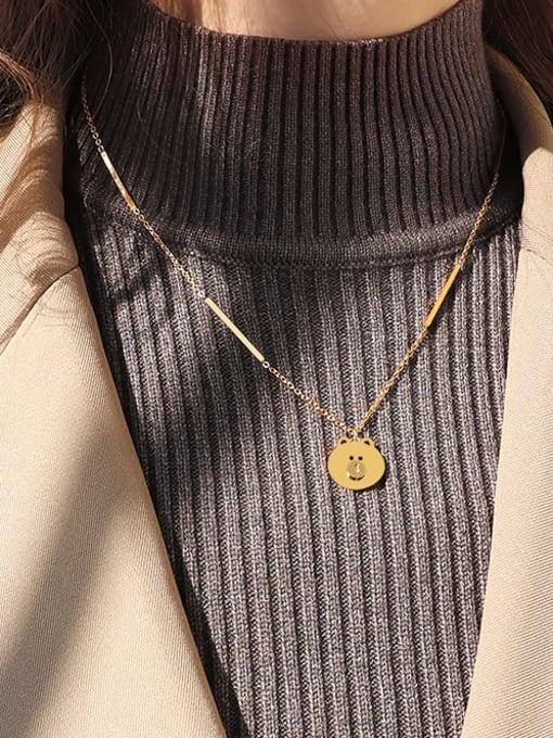 MAKA Titanium Steel Bear Cute Necklace 1