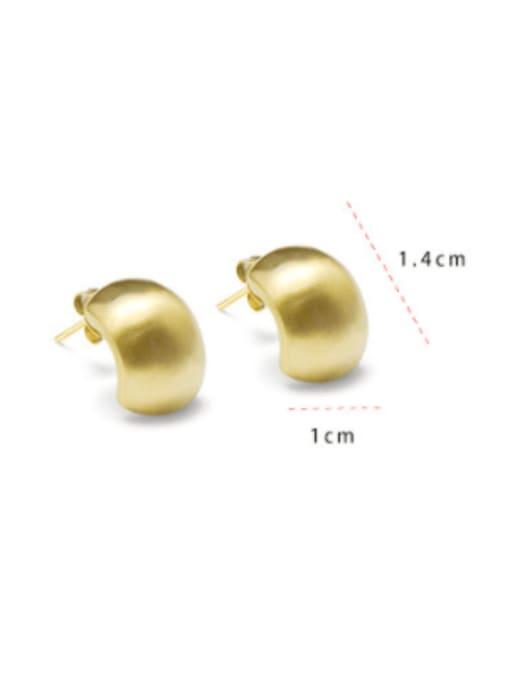 MAKA Titanium 316L Stainless Steel Geometric Minimalist Stud Earring with e-coated waterproof 3