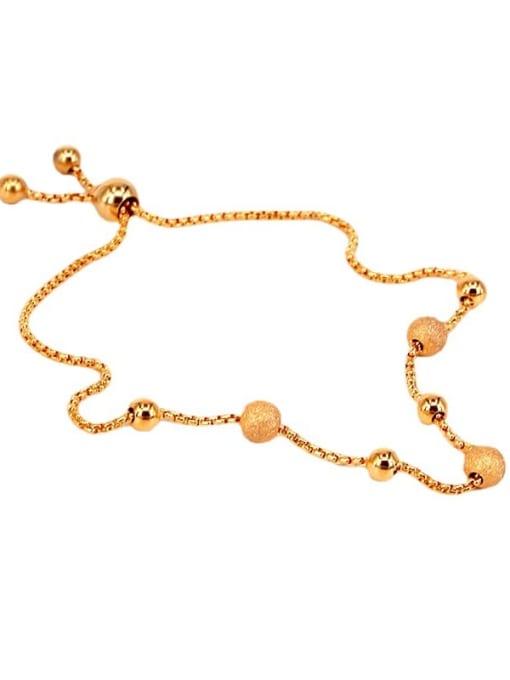 K.Love Titanium Steel Round Ball Minimalist Adjustable Bracelet 2