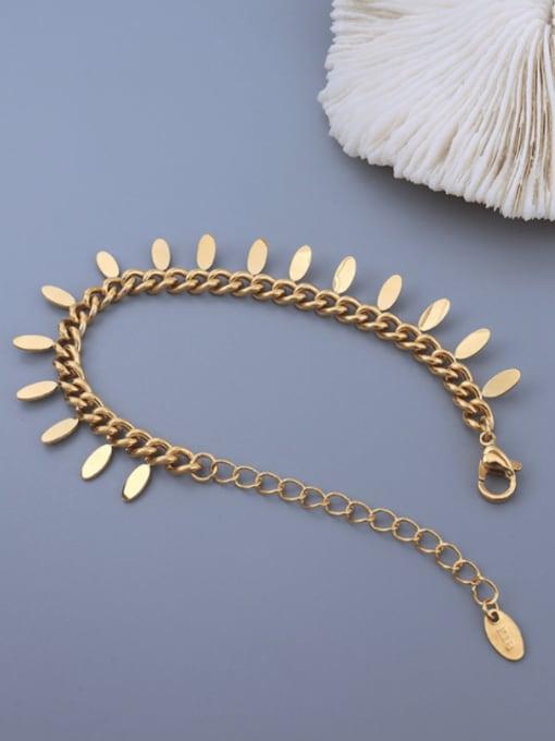 MAKA Titanium 316L Stainless Steel Tassel Vintage Bracelet with e-coated waterproof 1