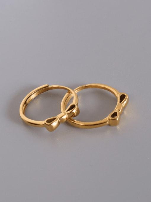 Gold ring (no adjustable) Titanium Steel Bowknot Minimalist Band Ring