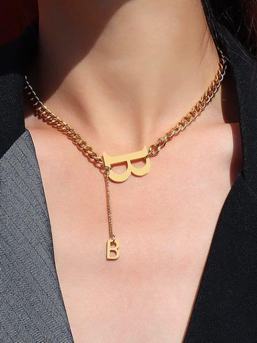 MAKA Titanium Steel Tassel Vintage Tassel Necklace 1
