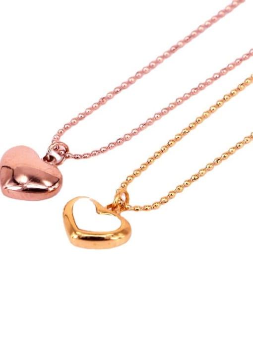 K.Love Titanium Steel Shell Heart Minimalist Necklace 3