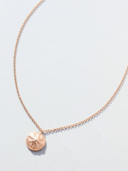 Rose gold necklace 40+5cm Titanium Steel Geometric Minimalist Necklace