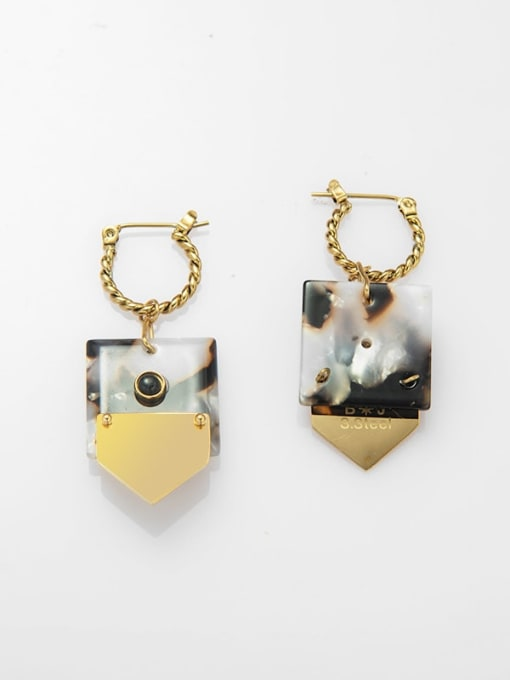 YAYACH Titanium Steel Geometric Minimalist Huggie Earring 2