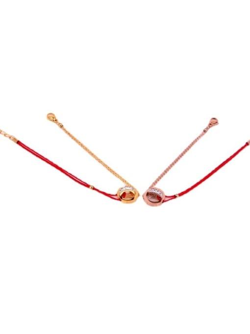 K.Love Titanium Steel Rosary Minimalist Woven Bracelet 0