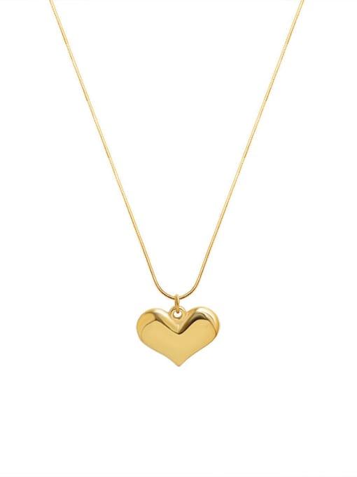 MAKA Titanium Steel Heart Minimalist Necklace