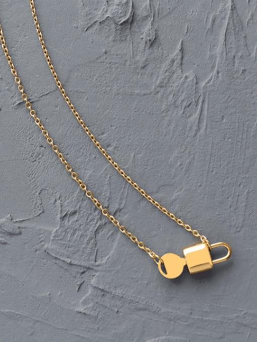 MAKA Titanium Steel Locket  Key Minimalist Necklace 2