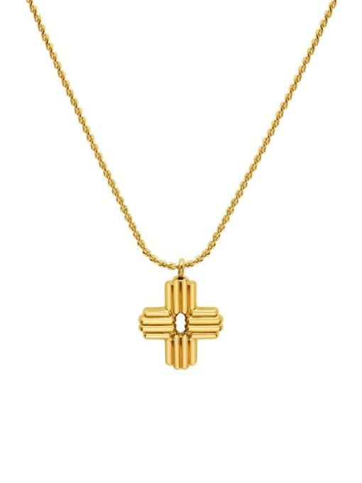 MAKA Titanium Steel Cross Vintage Regligious Necklace 0