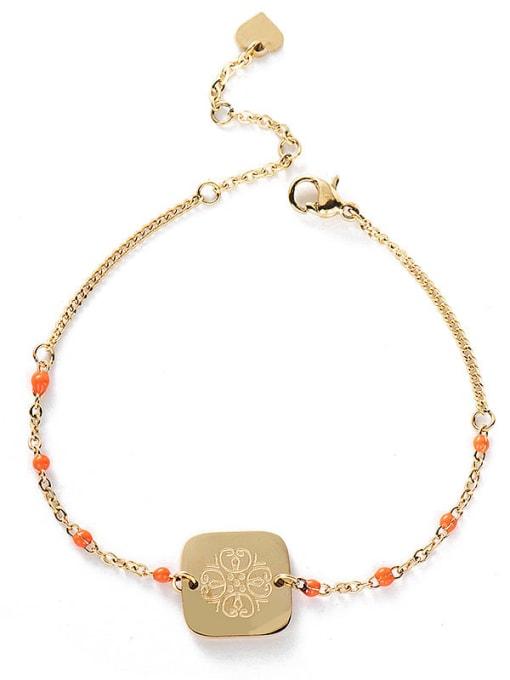 YAYACH Stainless steel Bead Geometric Bohemia Link Bracelet 1