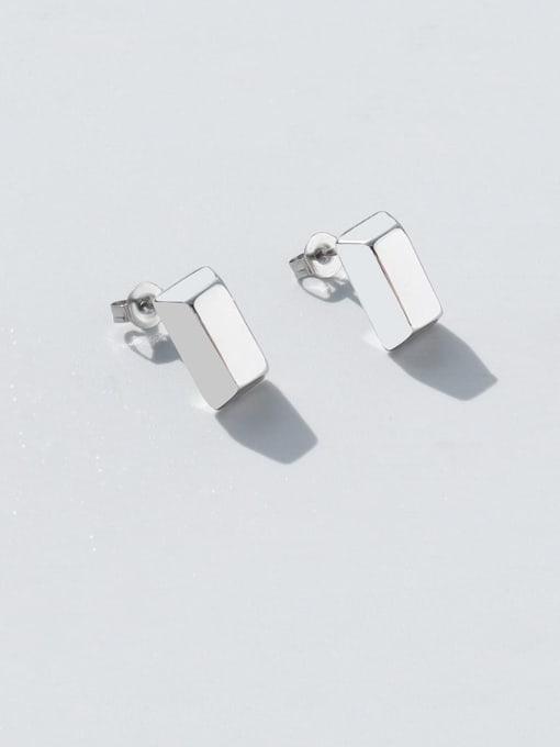 Steel Titanium Steel Smooth Geometric Minimalist Stud Earring