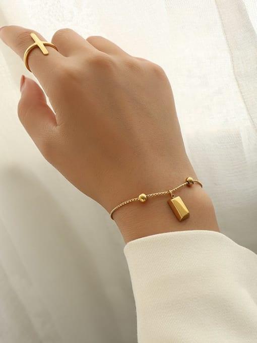 MAKA Titanium Steel Square Minimalist Adjustable Bracelet 1