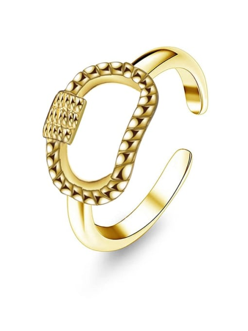 Gold Shangshan buckle design stainless steel ring