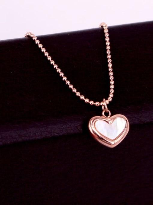 K.Love Titanium Steel Shell Heart Minimalist Necklace 4