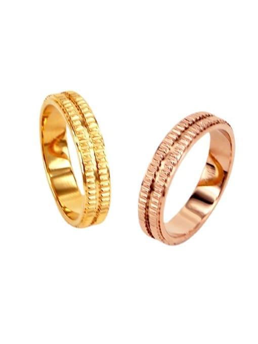 K.Love Titanium Steel Geometric Minimalist Band Ring 0