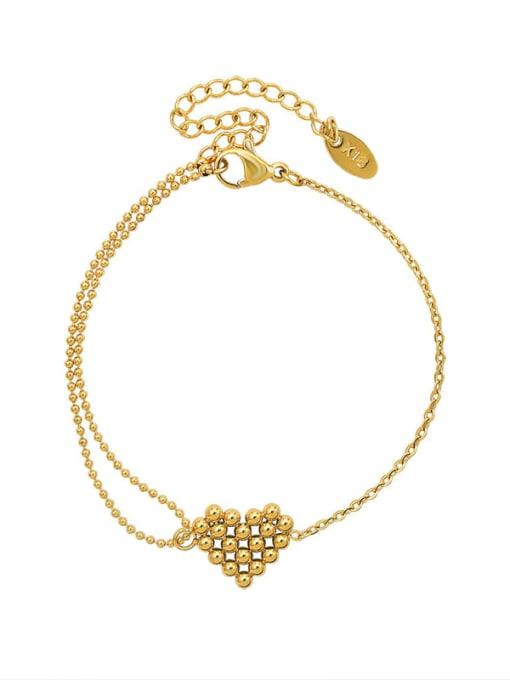 MAKA Titanium Steel Bead Heart Vintage Link Bracelet 3