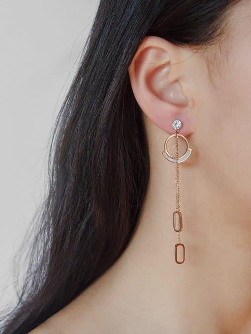 YAYACH Baroque crystal stainless steel simple titanium steel earrings 1